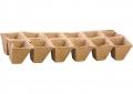 Табла за разсад, пресован торф 5х5 см, 12 гнезда - брТабла
